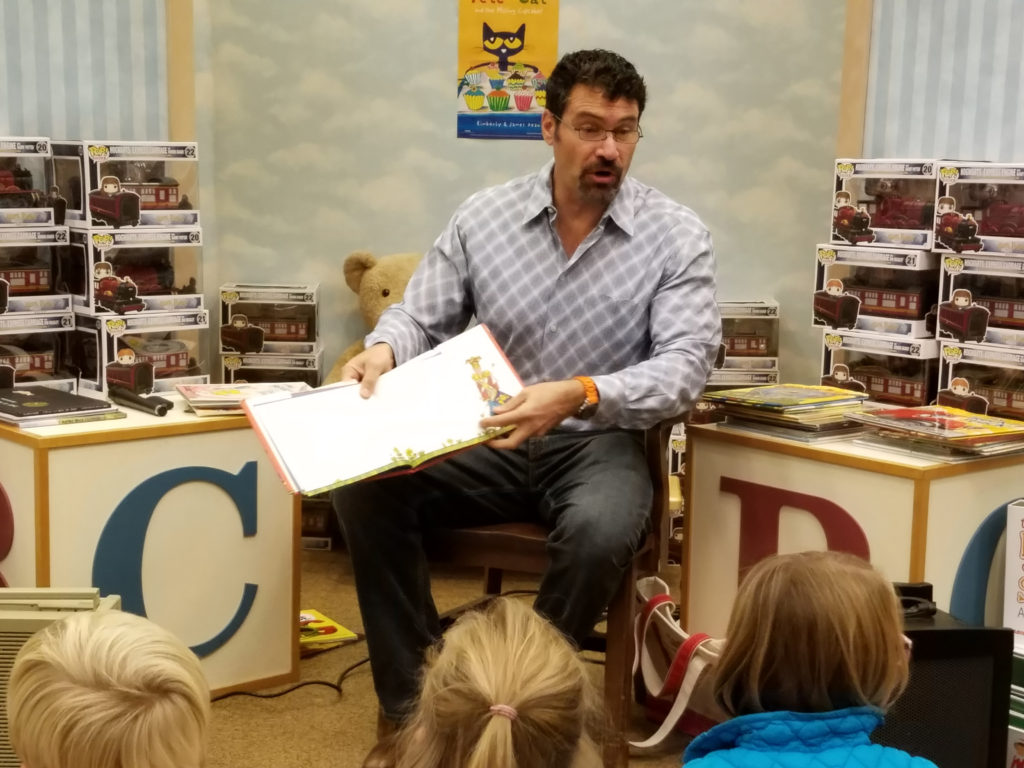 Karl Wimer Sharing books with youngsters st annes bookfair '16