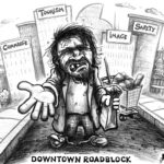 downtown-roadblock