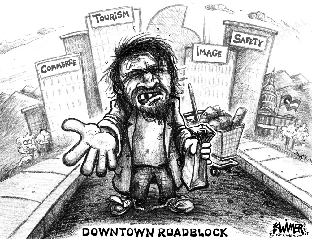 downtown-roadblock