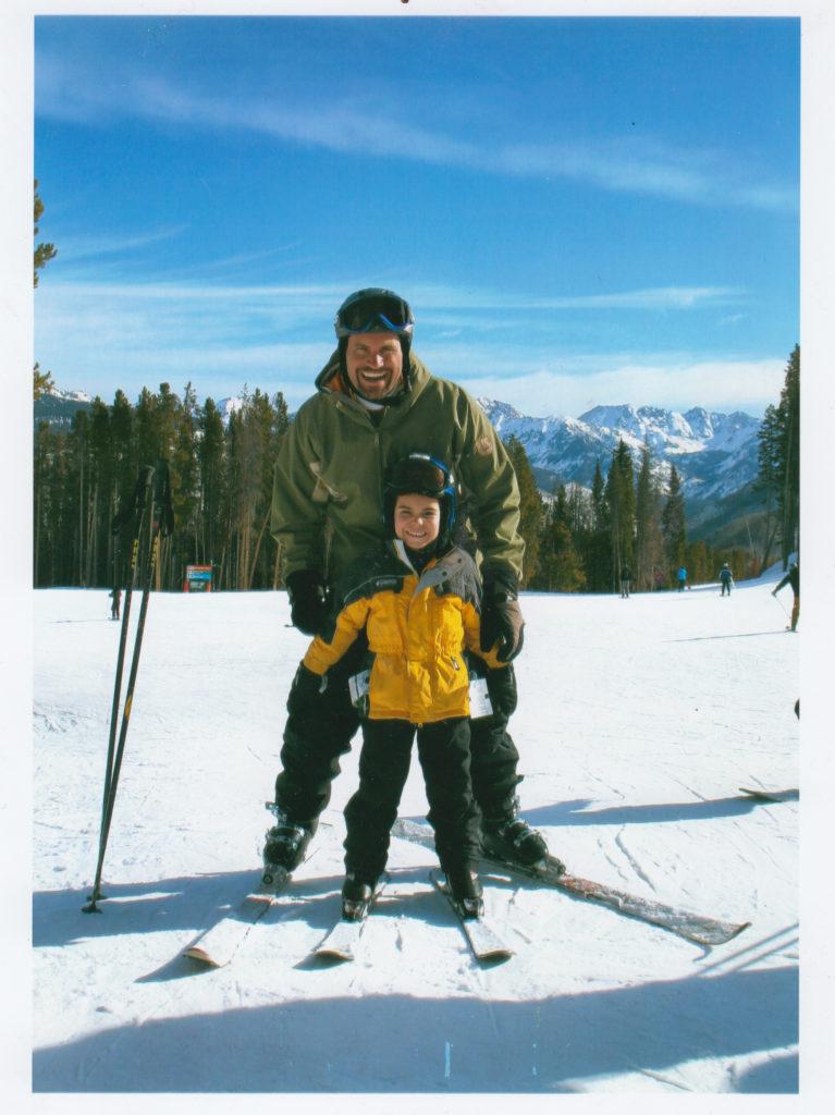 karl n dad ski