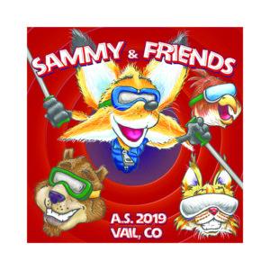 sammy n friends animal character cartoon illustration