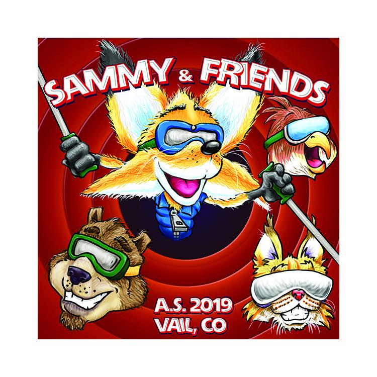 sammy n friends sticker small