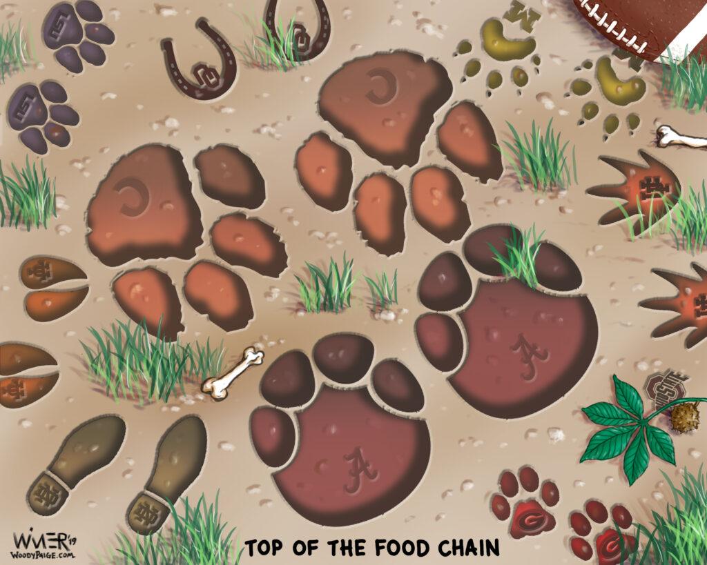 ncaa football food chain