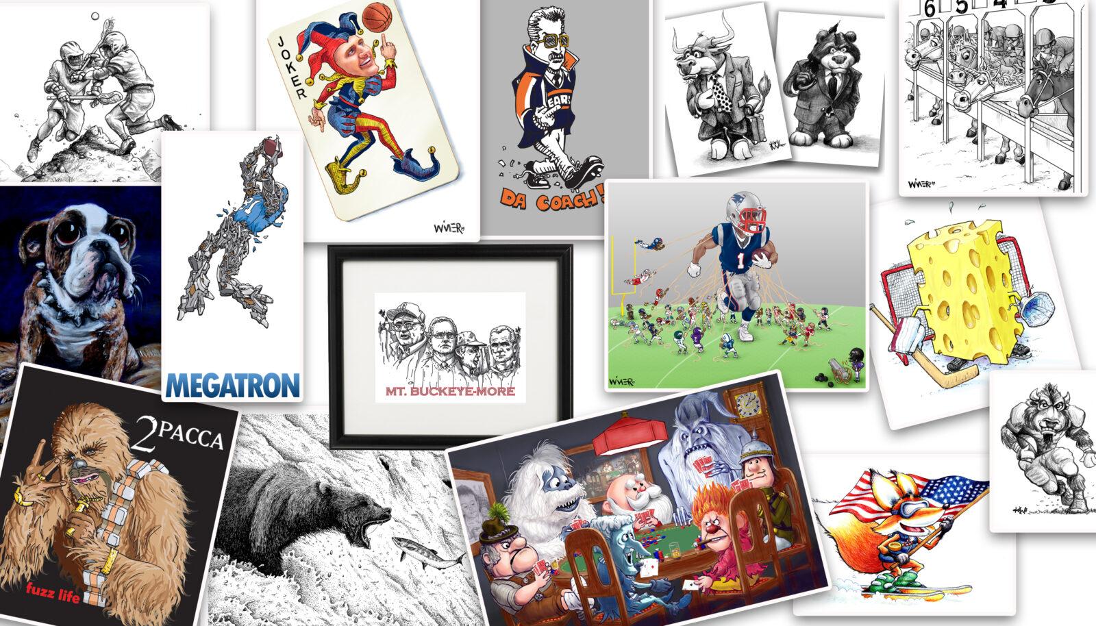 Etsy Images Cartoons Illustrations for WimerWorks