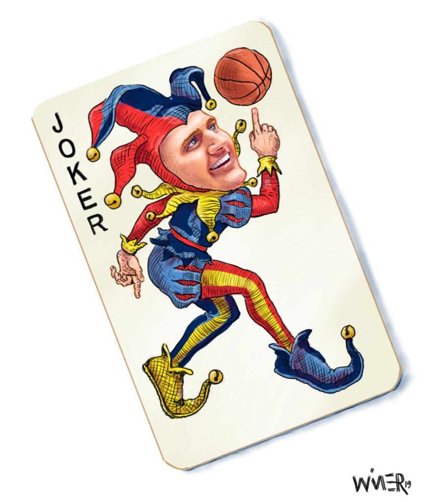 joker jokic denver nuggets playing card