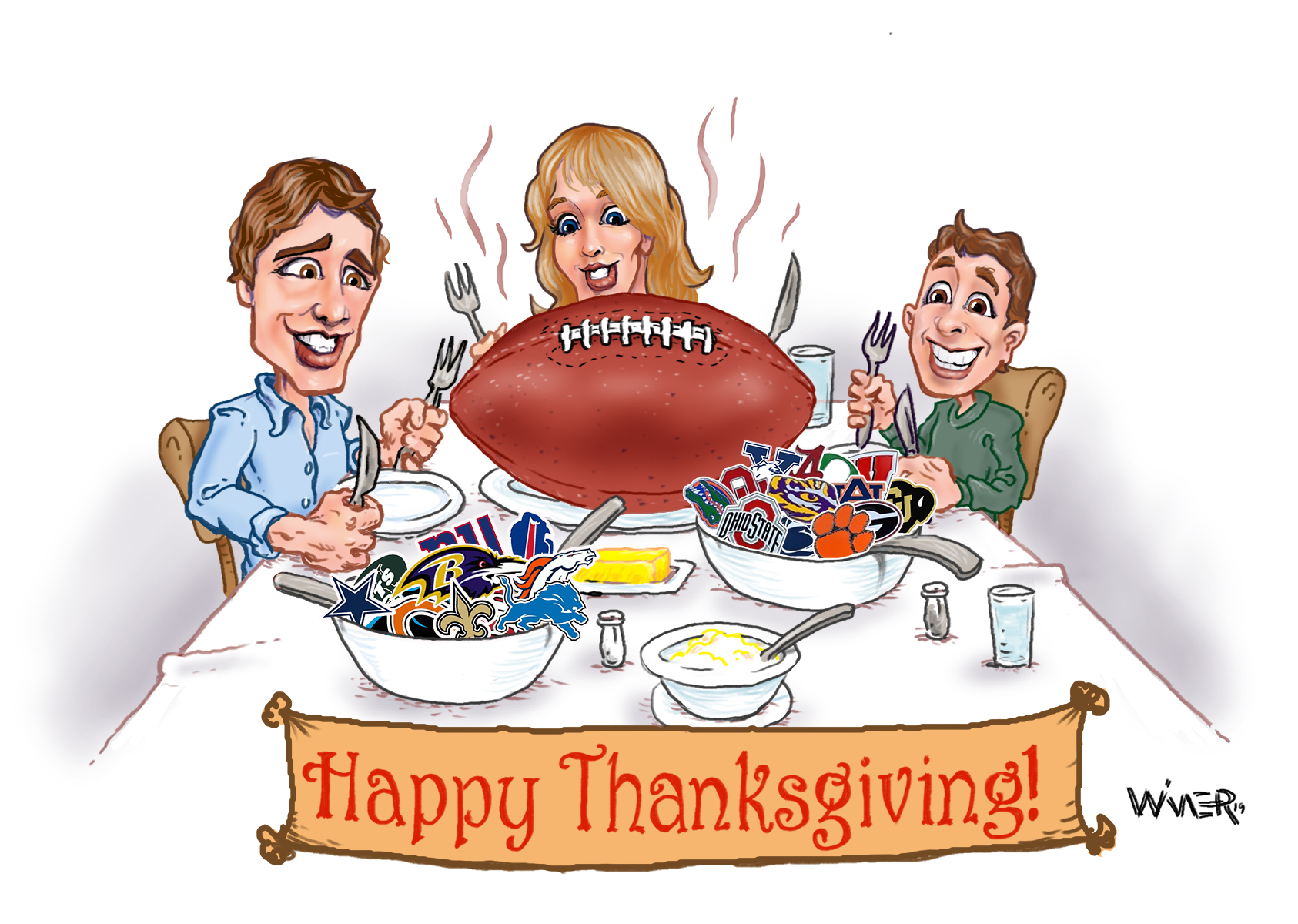 A lot of football is consumed by Americans, and certainly a ton of it around the holidays like Thanksgiving.