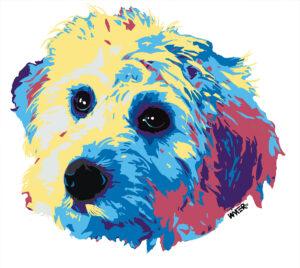 Koda Golden Doodle Dog Original Art