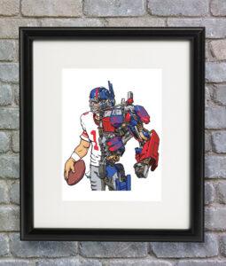 optimus eli manning framed