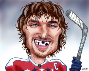 Alexander Ovechkin reached impressive heights with his 700th career goal, and with a smile that only a mother could love. 8th overall, he has 194 goals more to match the Great One, Wayne Gretzky. At the rate he is playing and staying healthy, it's a very real possibility.