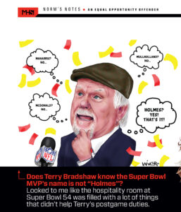 Terry Bradshaw Post Super Bowl Mahomes Confusion Cartoon Illustration