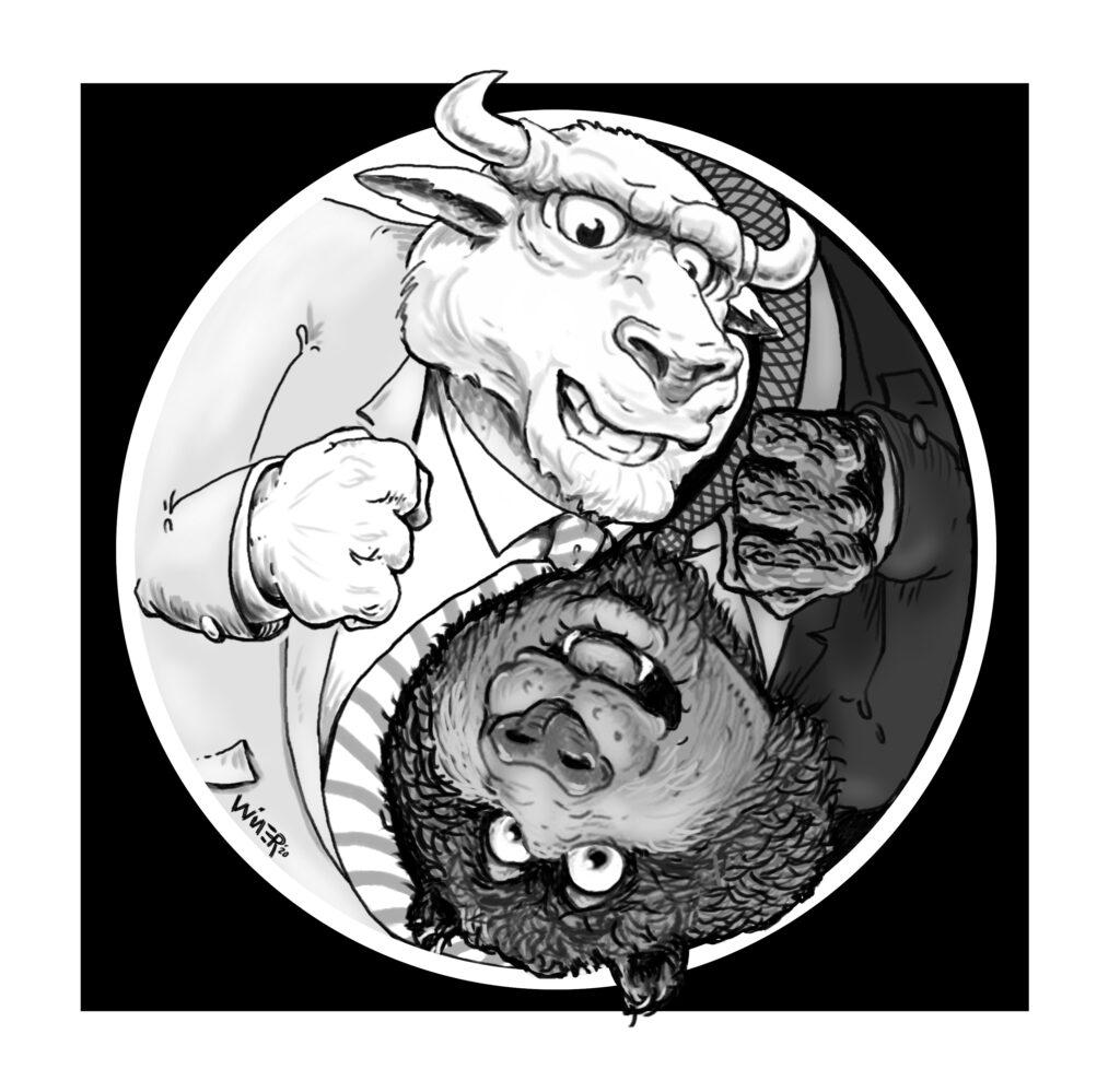 bull bear yin yang