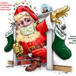 Santa Claus Spreading Covid