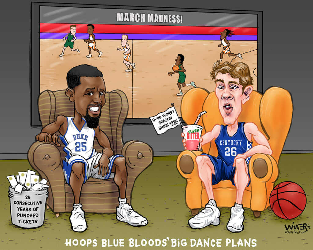 March Madness showed its face again with some blue bloods staying home for this round.